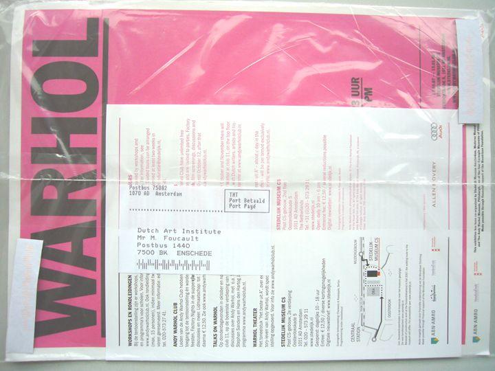 Michel Foucault   Stedelijk Museum 4 - Bauhaus Press Shop