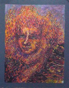 King of fire - study - Anna Mills Raimondi