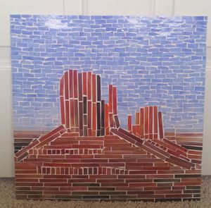 Monument Valley Mosaic Wall Hanging