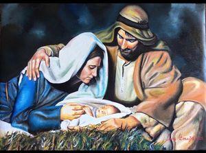 Virgin Mary, Saint Joseph and Jesus