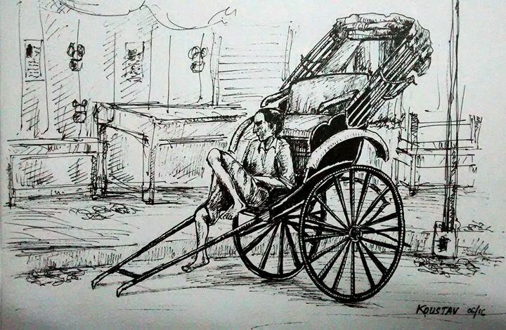 Image result for kolkata rickshaw puller