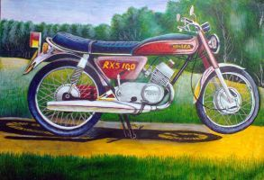 Yamaha Motor Cycle (Drawing)
