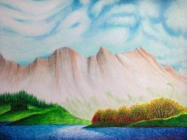 Scene from the Rockies (Drawing)