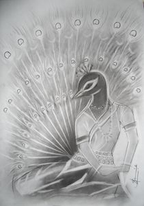 Peacock dance in Odissi form 3