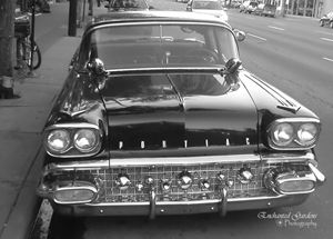 Black & White Classic car on Whyte A
