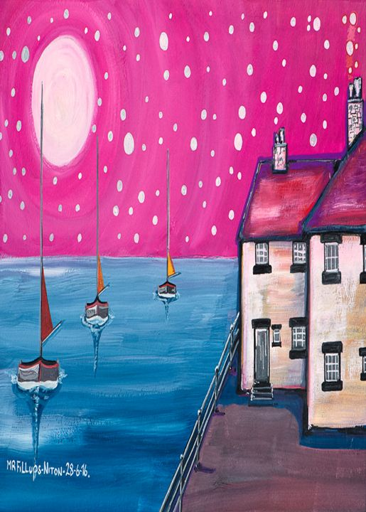 Summer Night - Mr Fillups Quirky Art