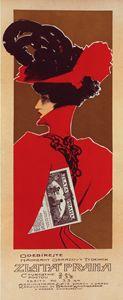 Poster for the magazine Zlata Praha. - Liszt Collection