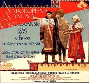 Poster ethnographique tchèco-slave - Liszt Collection