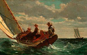 Breezing up, Winslow Homer