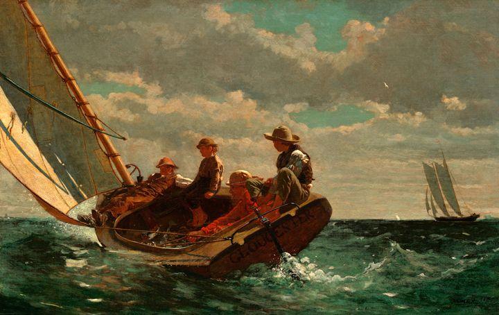 Breezing up, Winslow Homer - Liszt Collection