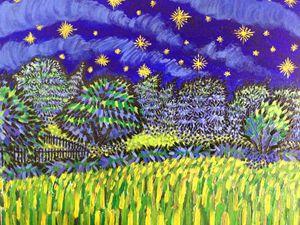 Starry Field 16x20in