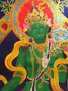 Green Tara Buddha of Enlightenment