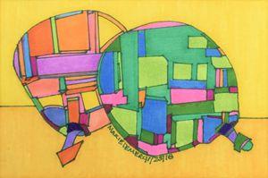 Overlap Inner-Abstract-Pear-Frames - MarieDemery