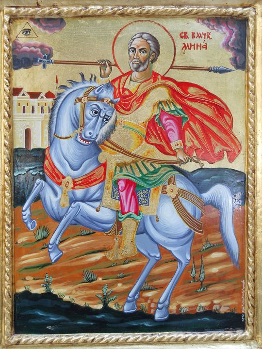 """Orthodox icon """"St. Minas"""" - Icons by JJ"""