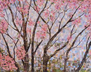 collage peach tree