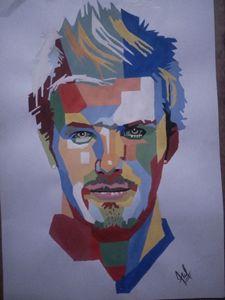 David Beckham portrait