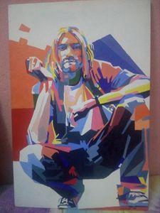 Kurt cobain pop art