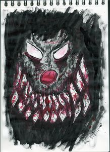 Monster Clown Thinks You Are So Funn - Darkvine Art