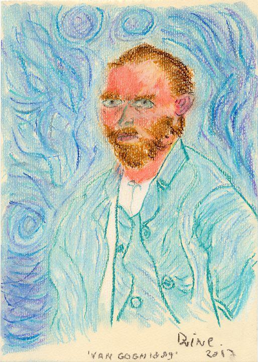 Vincent Van Gogh Self-Portrait 1889 - Darkvine Art