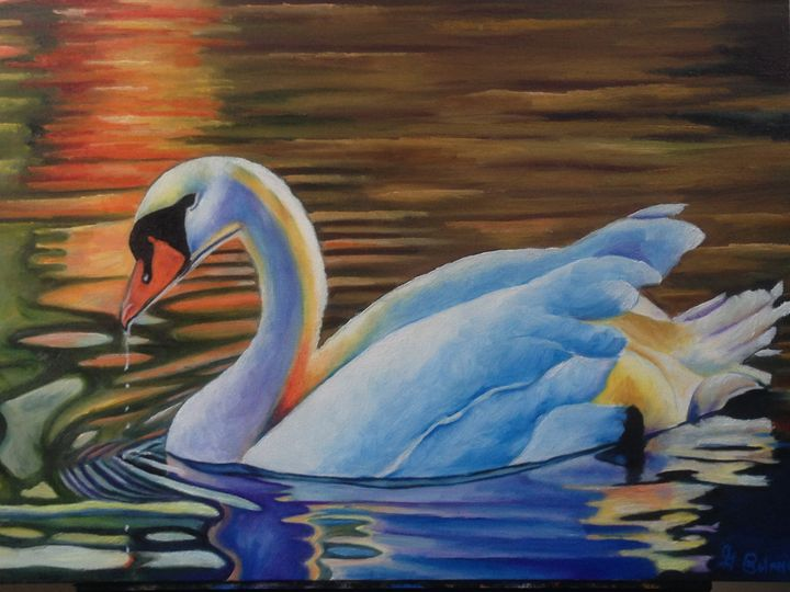 The Golden Pond - GBolanos Art Gallery
