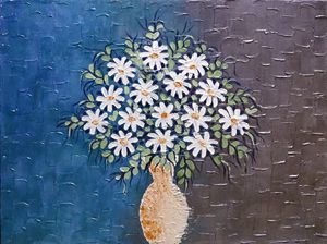 floral texture painting