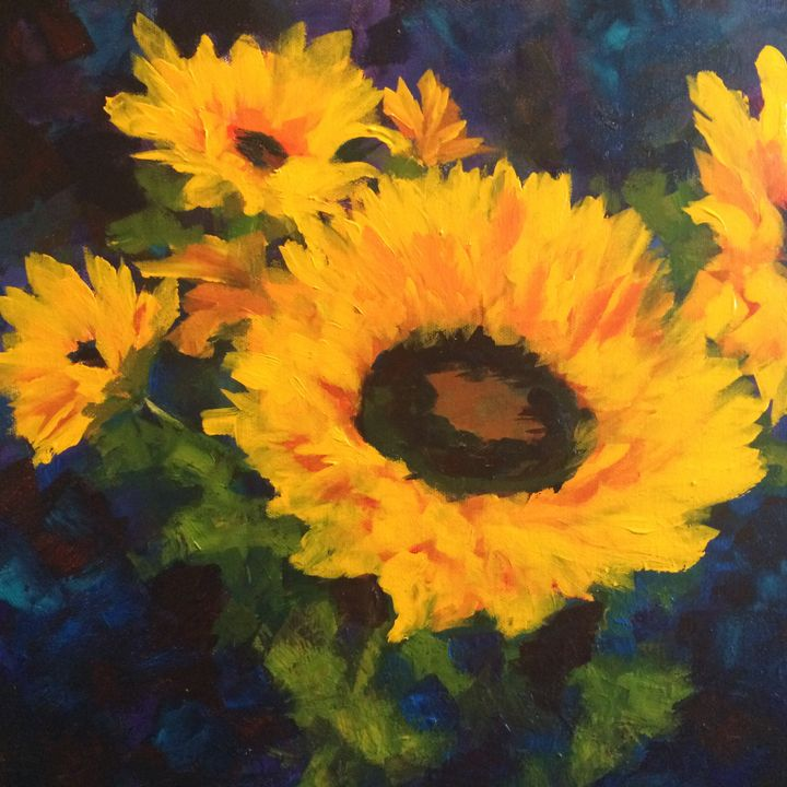 Sunflower 3 - Ramya Oil Paintings