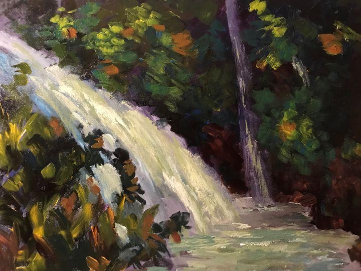 Falls at Maui - Ramya Oil Paintings