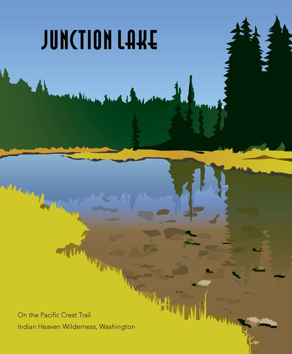 Junction Lake Labeled - Christine Rains