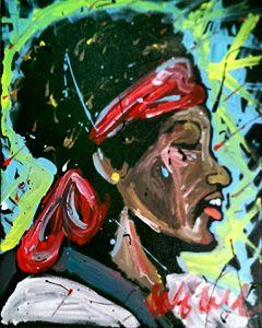 Jimi Hendrix 16x20 Painting