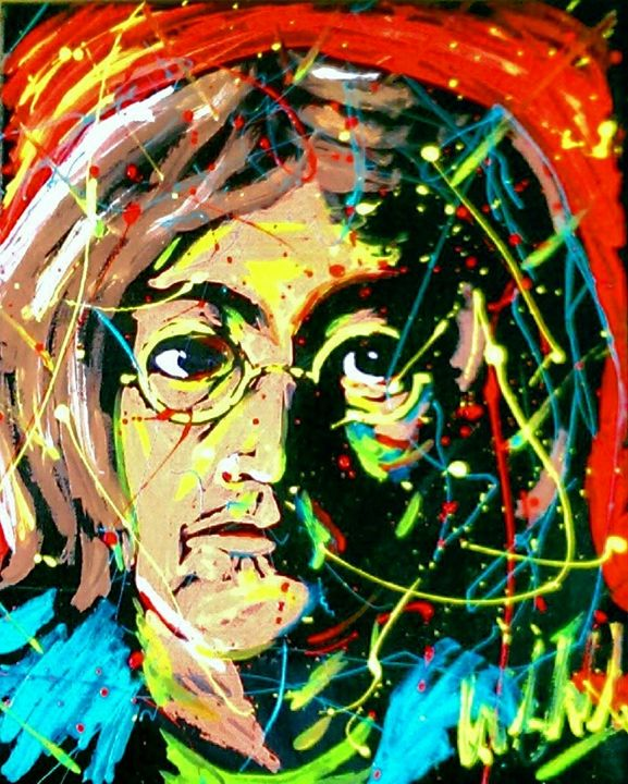 Jon Lennon 16x20 Painting - WesleyWalkerFineArt