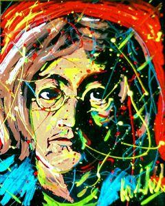 Jon Lennon 16x20 Painting