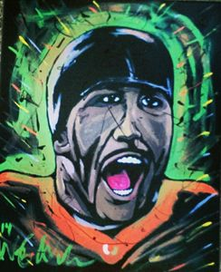 Ray Lewis 16x20 Painting