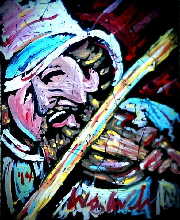 Charlie Daniels 16x20 Painting - WesleyWalkerFineArt