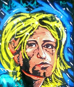 Kurt Cobain 16x20 Painting