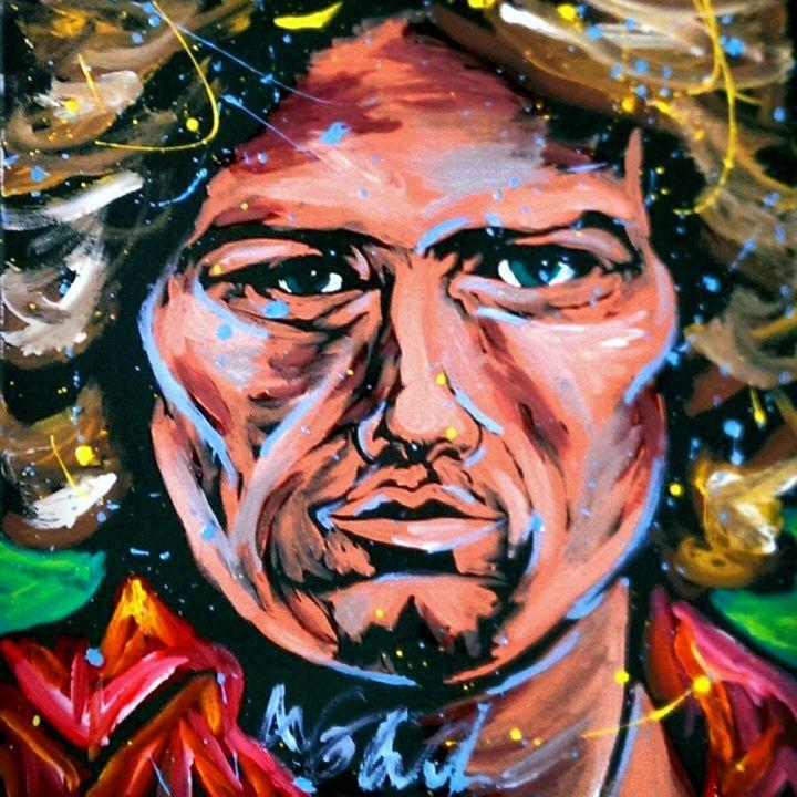 Don Henley 16x20 Painting - WesleyWalkerFineArt