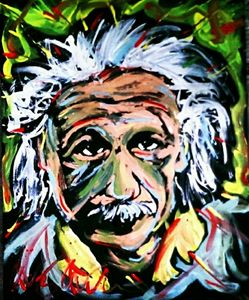 Albert Einstein 16x20 Painting