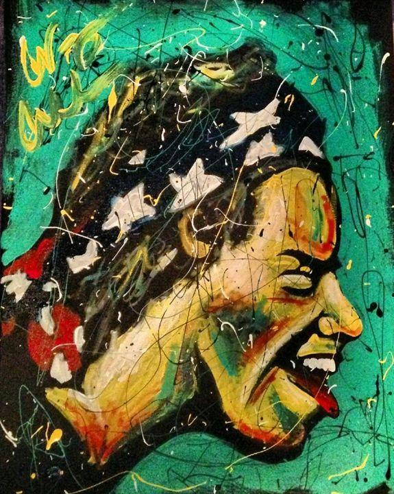 Harry Styles 16x20 Painting - WesleyWalkerFineArt
