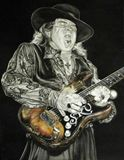 Stevie Ray Vaughan watercolour