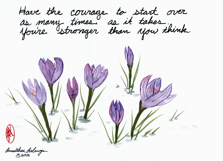 Courage To Start Over - Aelwyn Studios