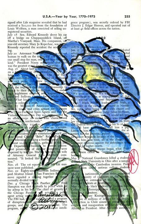 Blue Peony - Aelwyn Studios