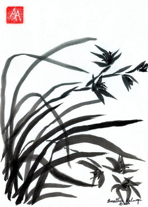 Left Orchids - Aelwyn Studios