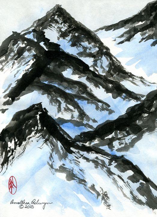 Winter Mountains - Aelwyn Studios
