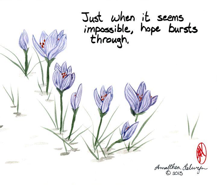Hope Bursts Through - Aelwyn Studios