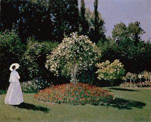 Jeanne-Marguerite Lecadre in Garden