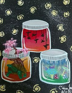 3 jars mini worlds