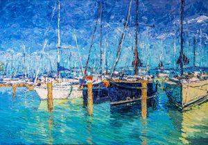 Sailboats at Balatonfured