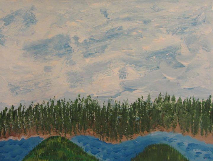 Blue River Two - Marilyn Kline