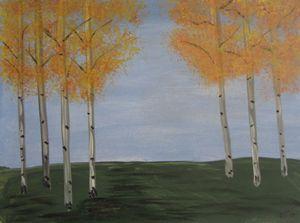Seven Aspen trees