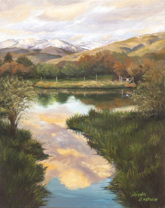 Idaho sky - Paintings by Diana V Brown