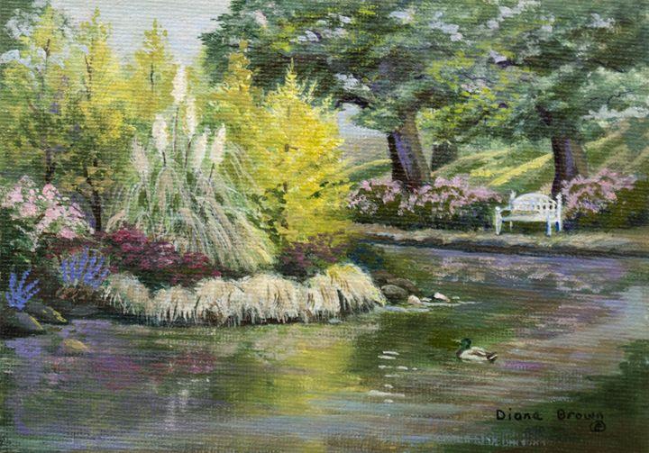 Laurelhurst park - Paintings by Diana V Brown